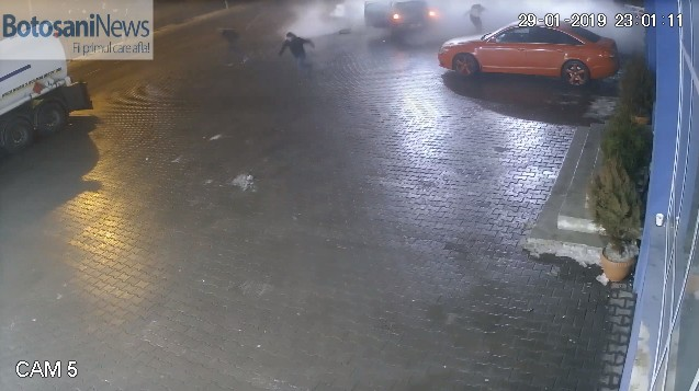 accident in benzinaria Cristal din Botosani
