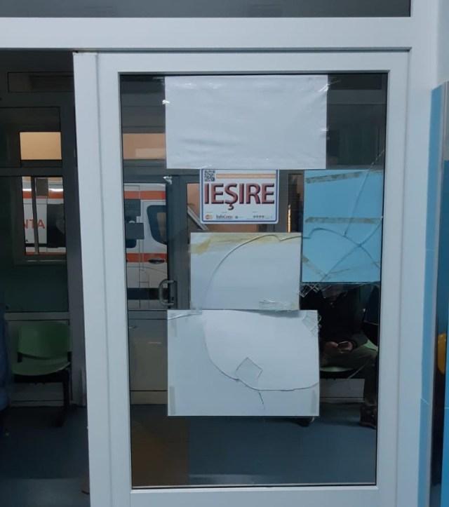 geam spart la UPU Botosani