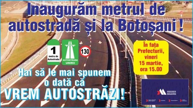 protest pentru autostrada, botosani