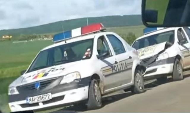 accident masini de politie la Cucorani