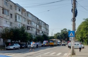 accident primaverii ambulanta SMURD tramvai- Botosani