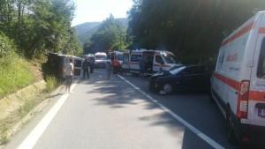 accident grav produs la Valcea 3