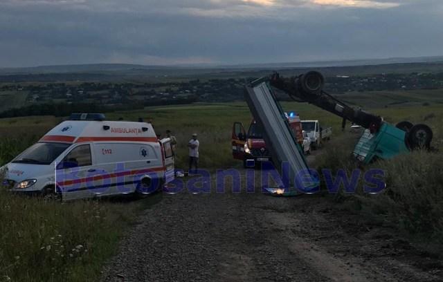 accident rutier la Dacia- Nicseni - Botosani