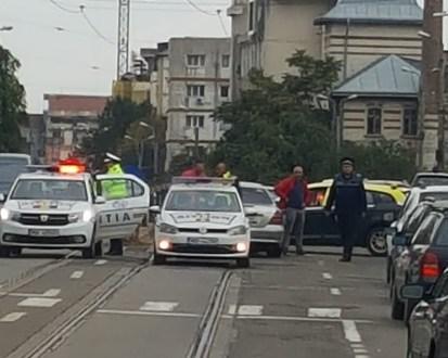 accident rutier in zona magazinului Util- Calea Nationala - Botosani