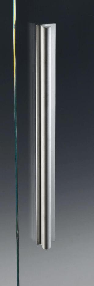 Maniglia MAN404V alluminio da appoggio per porte in vetro  Sistemi per vetro  Catalogo