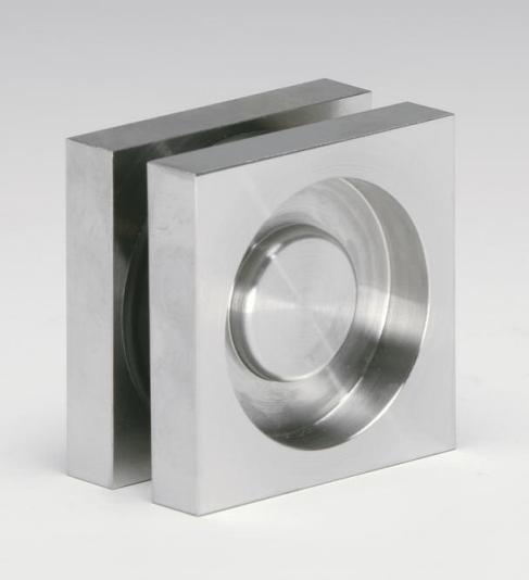 Maniglia MAQ60 quadra 60 incasso inox per porte in vetro  Maniglioni e pomoli  Sistemi Logli