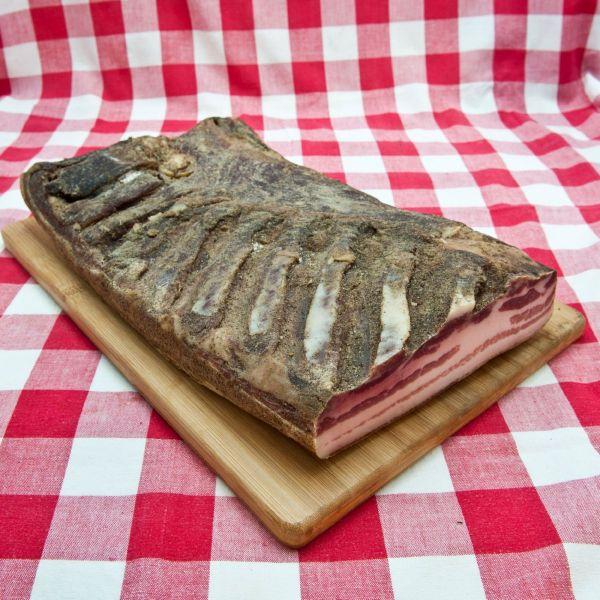 Cinta Senese Rigatino, Tuscan pancetta