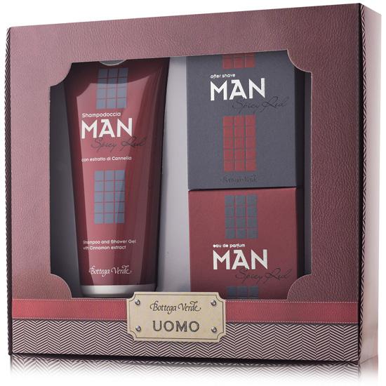 Set cadou - Man - Gel de dus, apa de parfum si after shave spicy red  (200 ML + 50 ML + 50 ML)