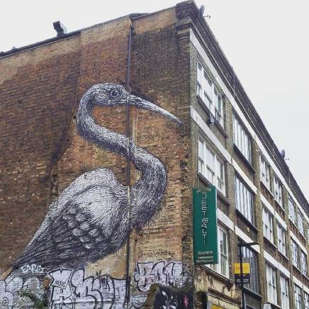 Street art dans le quartier de Shoreditch, à Londres