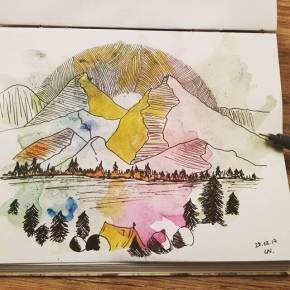 drawing-mountain