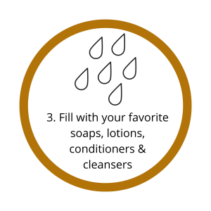 Step 3, fill with your favorite products graphic