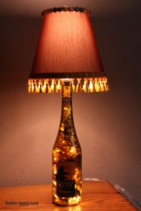 Make A Lamp From A Glass Bottle | How To Make A Bottle Lamp