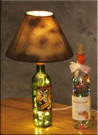 How to make a Lamp Shade | How To Make A Bottle Lamp
