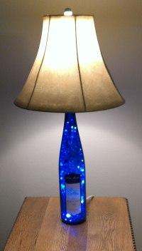 Blue Wine Bottle Lamp by Steve