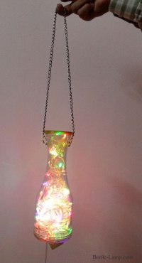 Hanging Wine Bottle Lamp - DIY Show Off | How To Make A ...