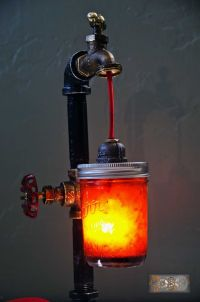 Steampunk Bottle Lamps | How To Make A Bottle Lamp