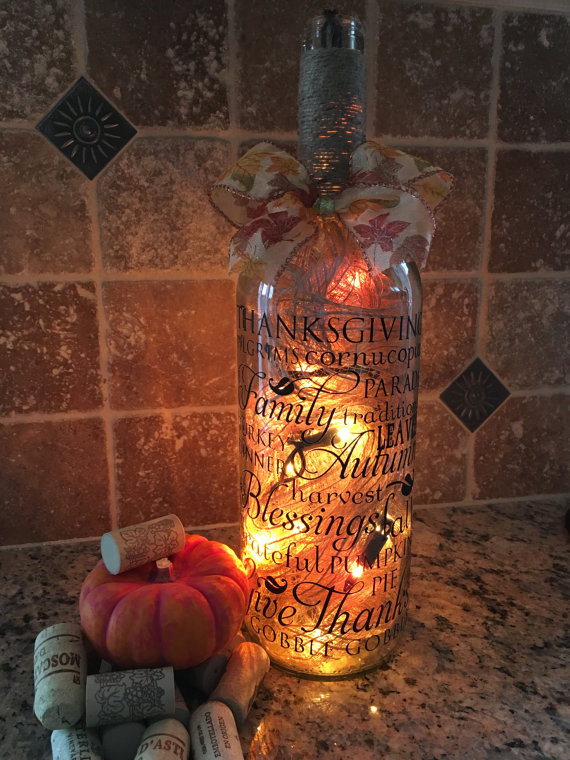 7 Fall Wine Bottle Project Ideas  How To Make A Bottle Lamp
