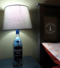 Make Your Own DIY Beside Lamps | How To Make A Bottle Lamp
