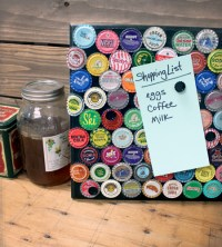 Vintage Bottle Cap Message Board Retro Craft DIY Home Decor