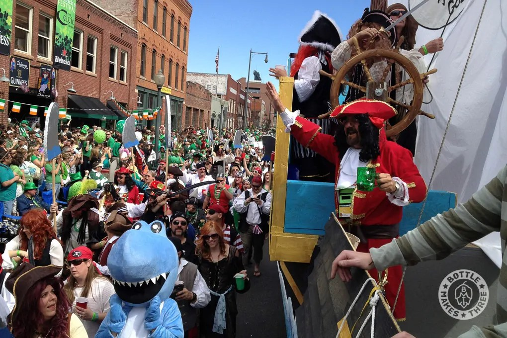 The Colorado Parrot Head Club in the Denver St. Patrick's Day Parade, 2012.