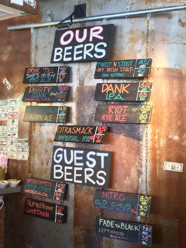 Dad and Dudes Breweria - Beer Menu March 2014