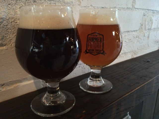 Former Future Brewing Company's Oatmeal Saison and Farmhouse IPA.