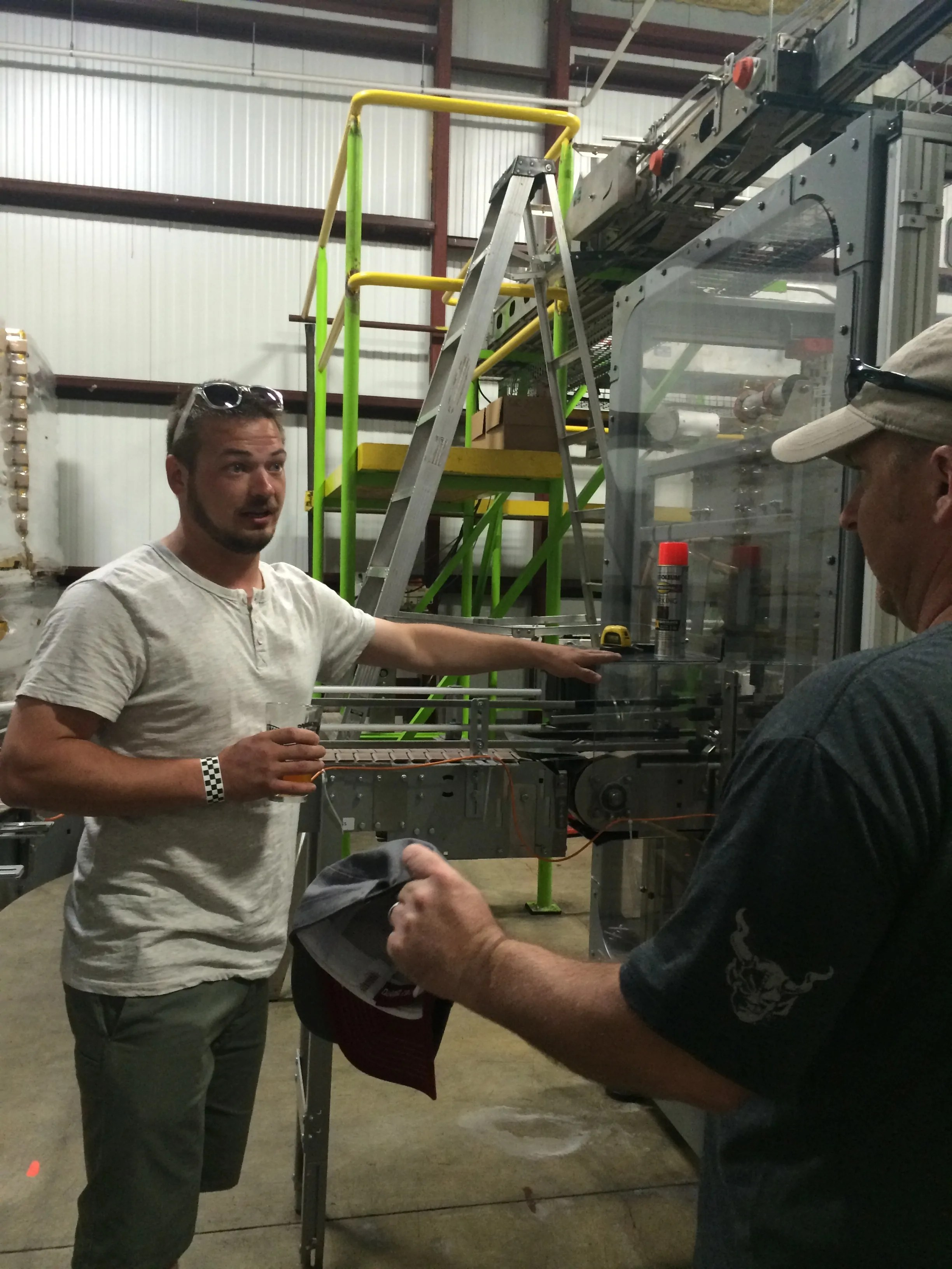 Chris shows us the new Ska Brewing canning line