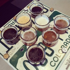 The sampler flight at Mockery Brewing, Denver CO | BottleMakesThree.com