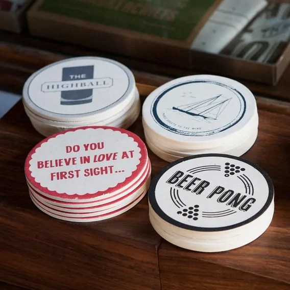16. Drinking Game Coasters