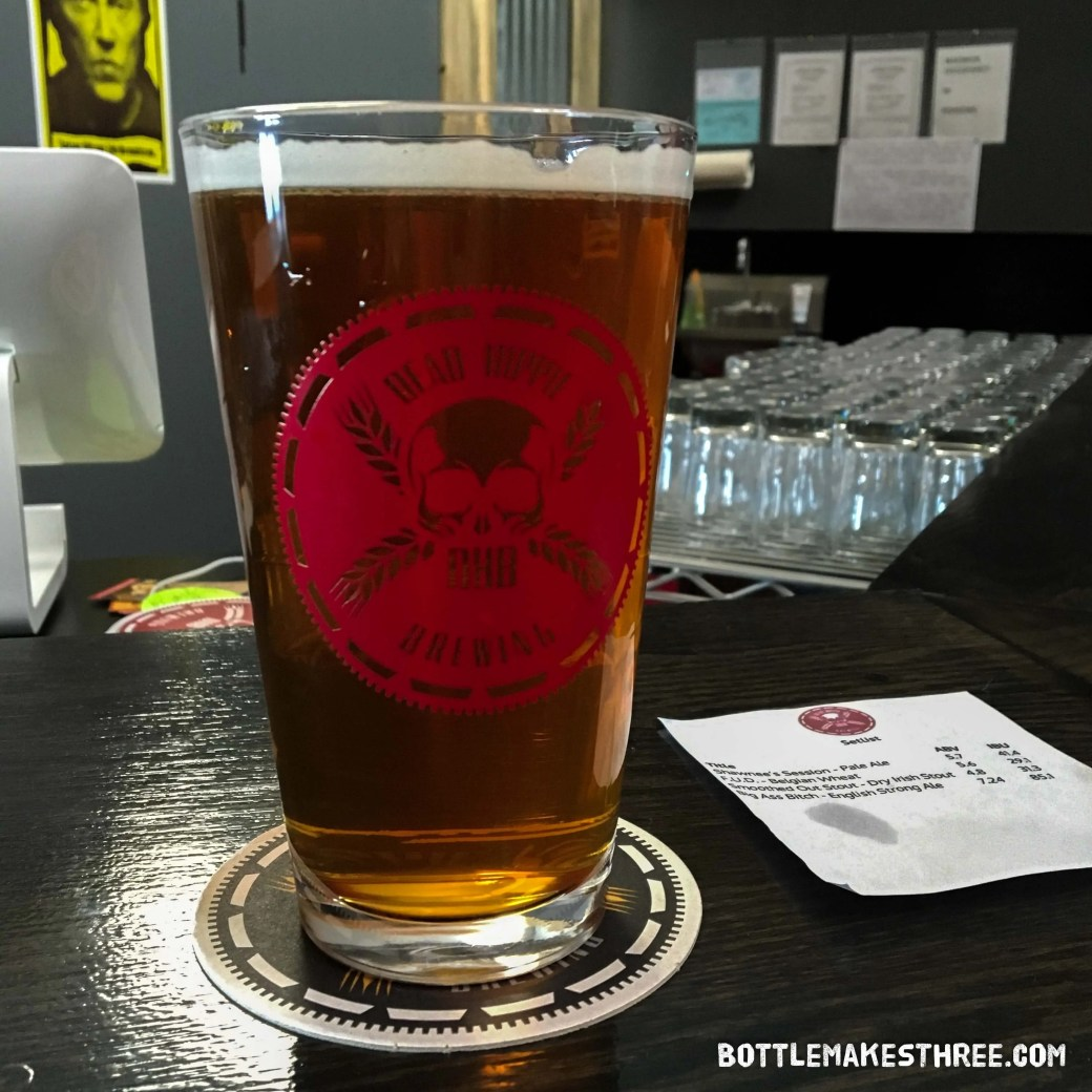 Shawnee's Session Pale Ale at Dead Hippie Brewing, Sheridan CO | BottleMakesThree.com