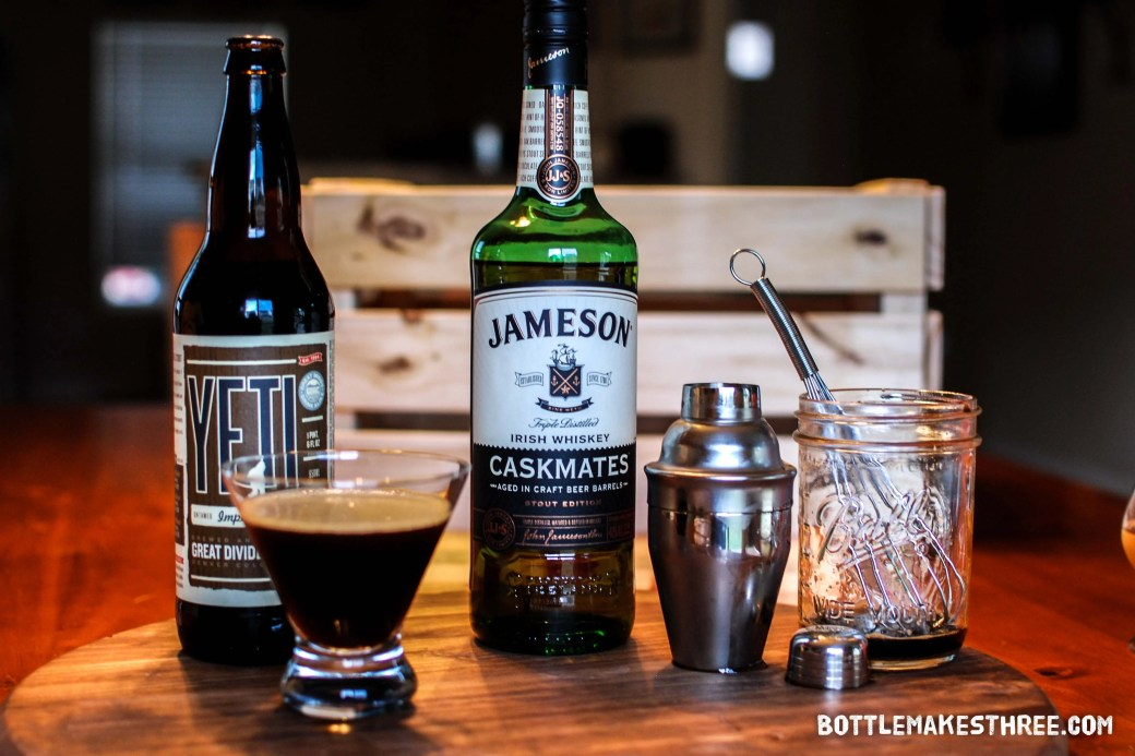 Short and Stout, a whiskey cocktail with stout syrup. From: Jameson Caskmates, When Whiskey Meets Stout | BottleMakesThree.com