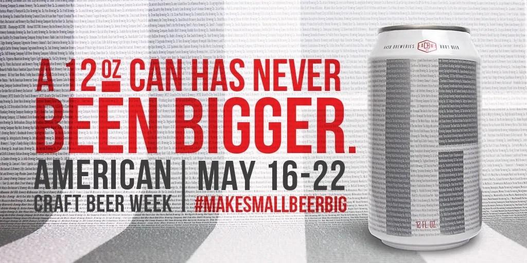 Enjoy the Biggest Small Beer Ever Made During American Craft Beer Week | BottleMakesThree.com