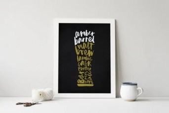 Printable Beer Art from SaltAndCove on Esty. Starts at $15 | Super-Last-Minute Gifts for Beer Lovers | BottleMakesThree.com