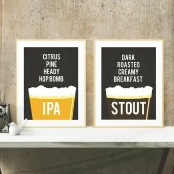 Printable Beer Art from KandCCreative on Esty.   Super-Last-Minute Gifts for Beer Lovers   BottleMakesThree.com