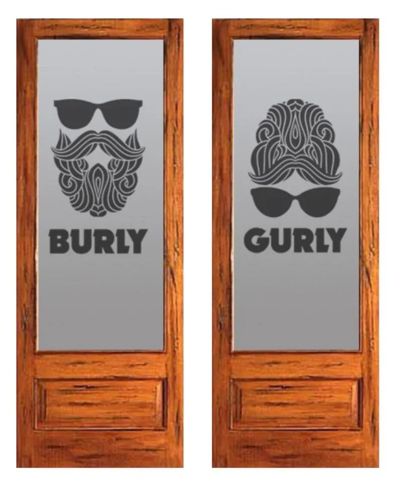Future restroom doors at Burly Brewing Company. Look for Burly Brewing Co to open in Castle Rock in early 2018 | BottleMakesThree.com