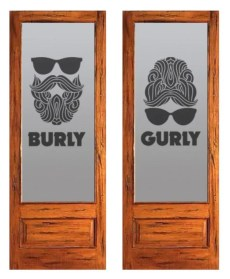 Future restroom doors at Burly Brewing Company. Look for Burly Brewing Co to open in Castle Rock in early 2018   BottleMakesThree.com