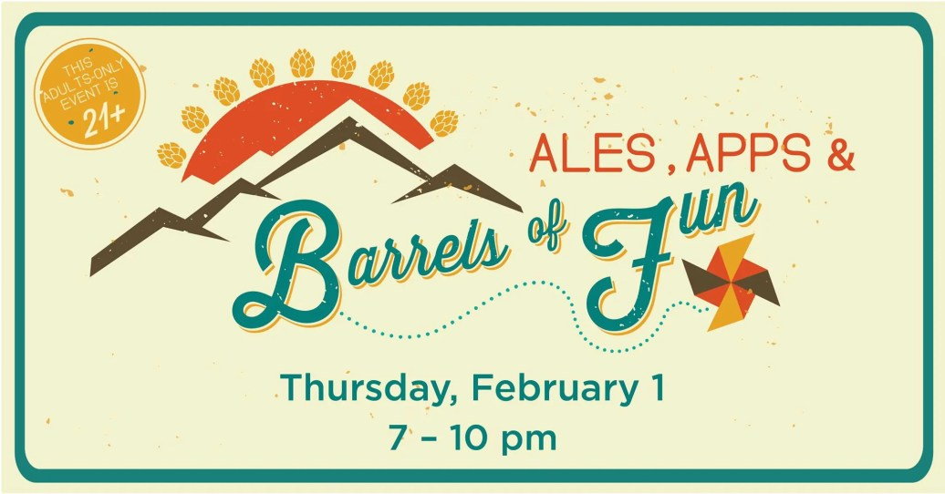 Enjoy Ales, Apps & Barrels of Fun, an adult-only night at the Children's Museum   BottleMakesThree.com