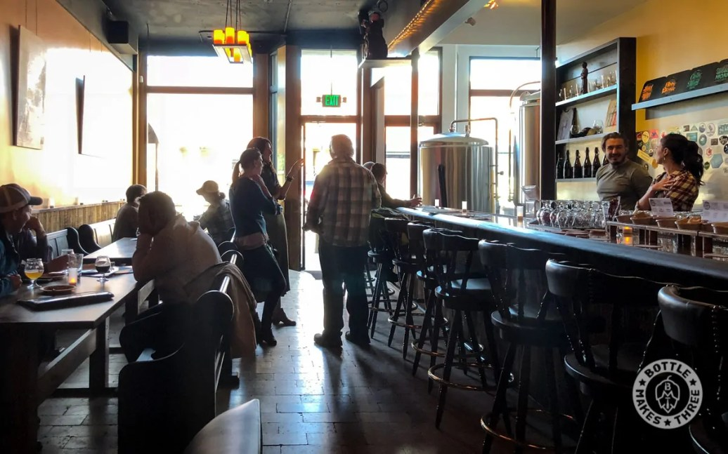 Inside the new Thirsty Monk, Denver.