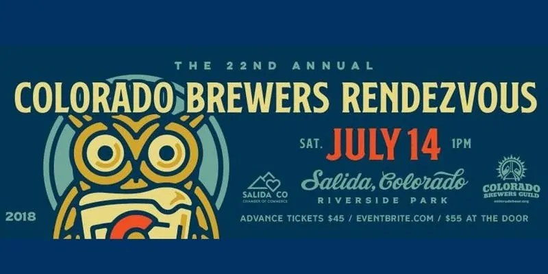 The 22nd Annual Colorado Brewers Rendezvous takes place in Salida, Colorado on July 14.