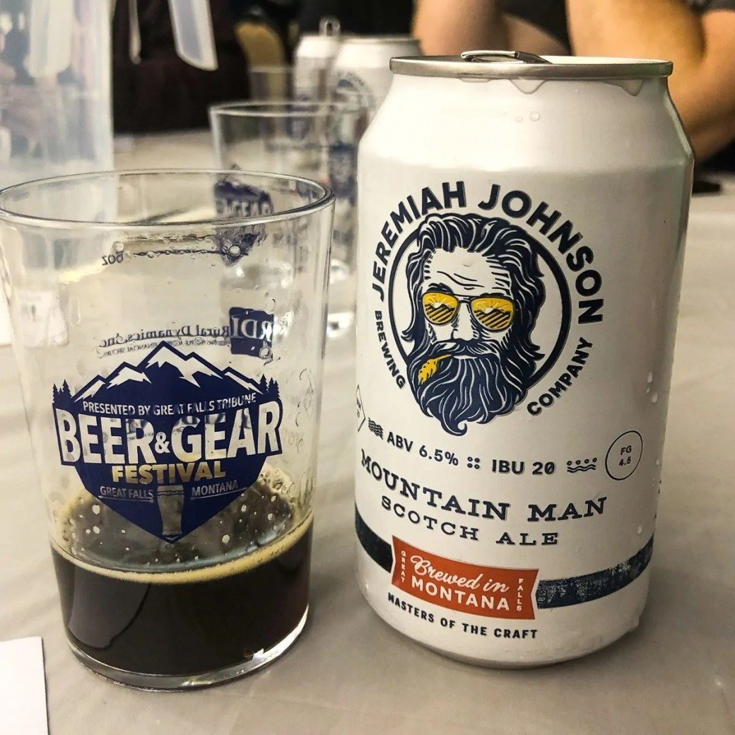 Mountain Man Scotch Ale by Jeremiah Johnson Brewing Company in Great Falls, MT