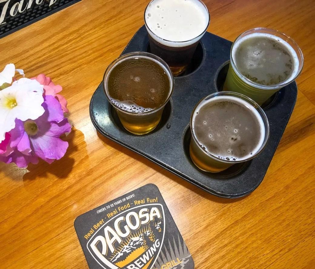 Taster Tray at Pagosa Brewing Company & Grill, Pagosa Springs, Colorado