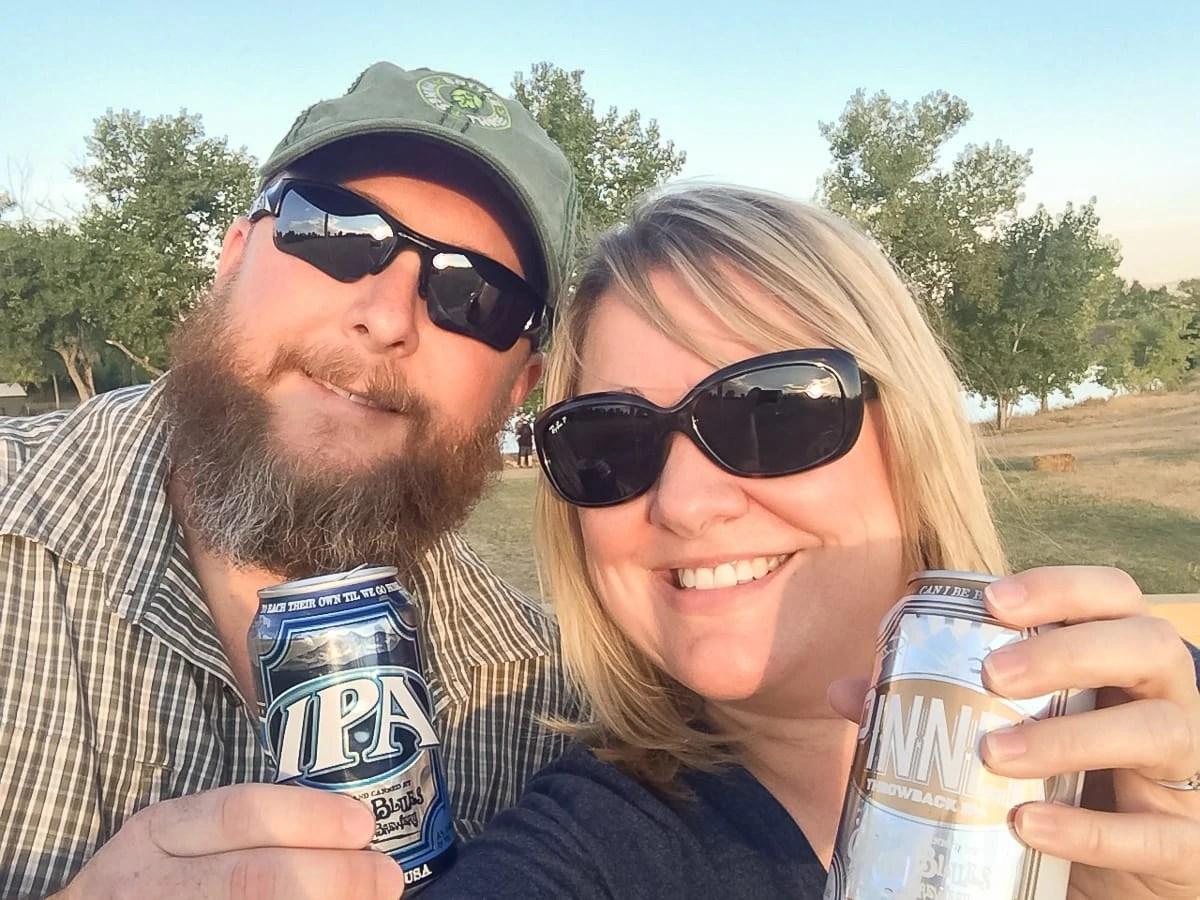 Enjoying Oskar Blues beer in Longmont, Colorado