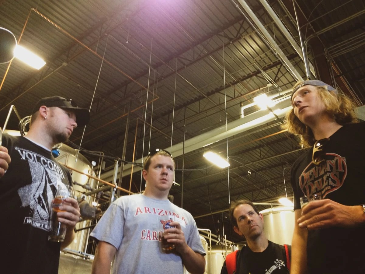 A brewery tour at the Oskar Blues Brewery's Tasty Weasel taproom in Longmont, Colorado