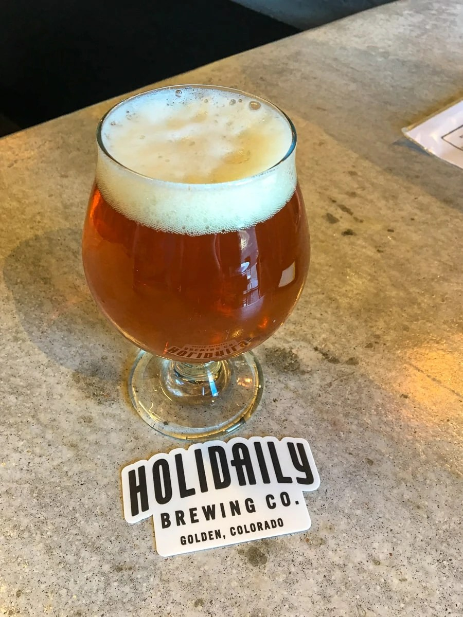Craft beer at Holidaily Brewing Co, Colorado's 100% dedicated gluten-free brewery