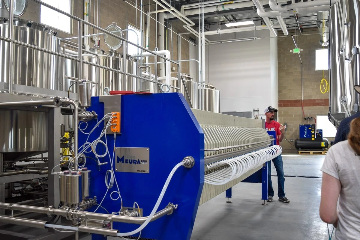 Inside the new production brewery at Holidaily Brewing Co, a dedicated gluten-free brewery in Golden, Colorado