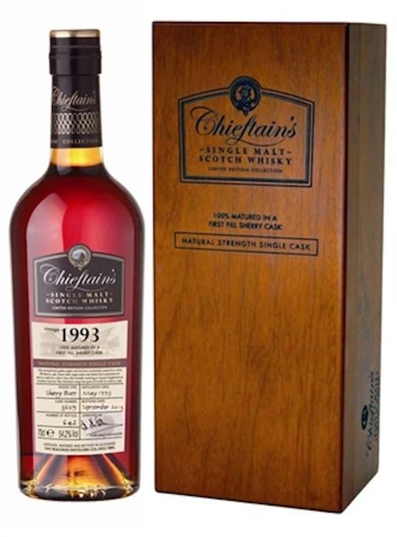 威士忌 Whisky : 老酋長1993雪莉桶單一麥芽蘇格蘭威士忌原酒700ML, 56% - Bottle Price 瓶價網