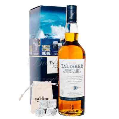 Talisker Single Malt Whisky 10 YO + whisky stones - bottleshop.sk | bottleroom