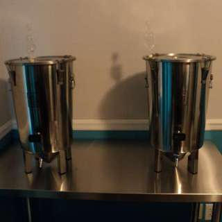 Brew Buckets on brew table