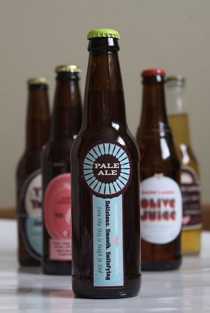 Custom Beer Labels For Valentines Day A Wedding Or A