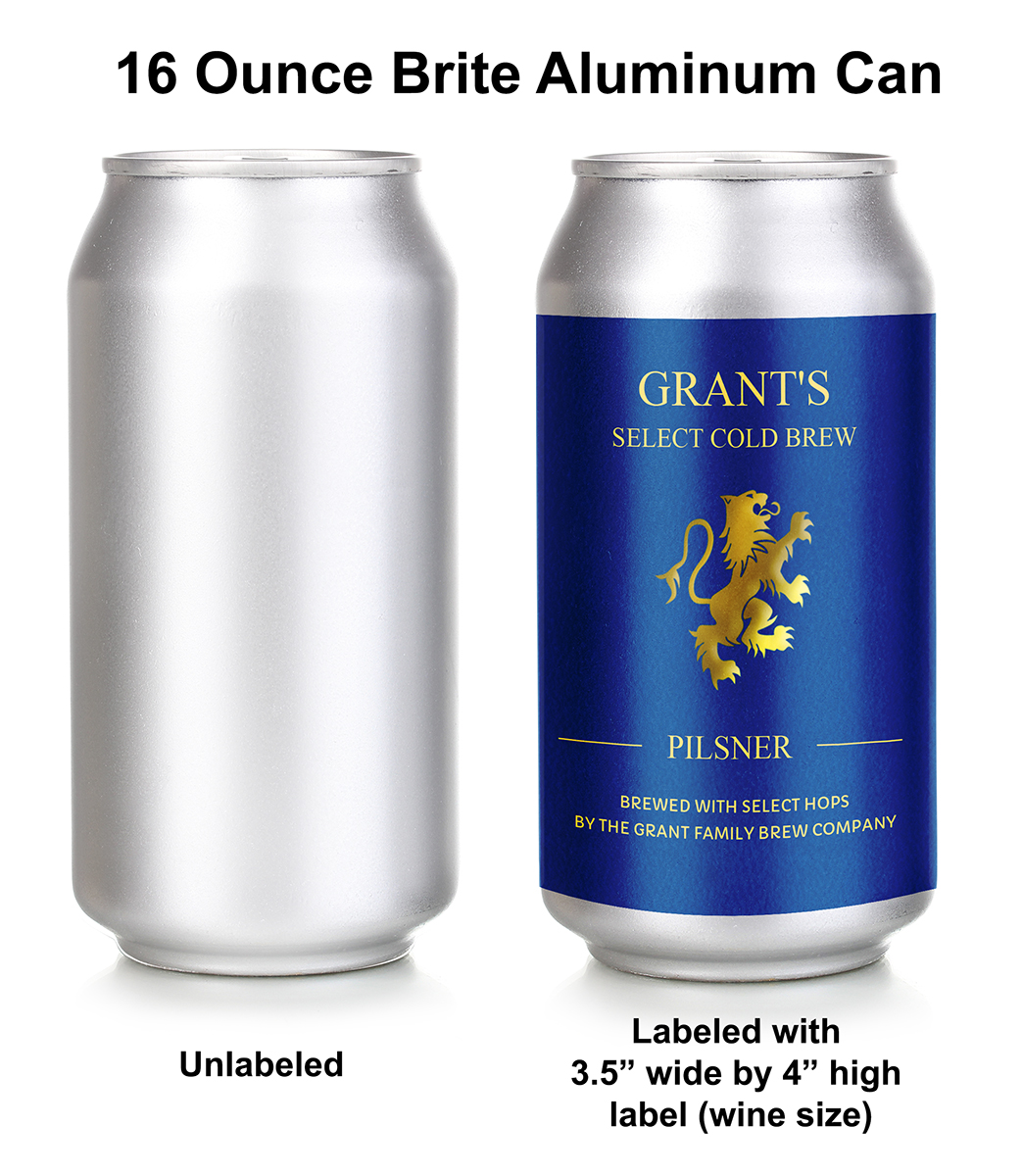 Beer Can Label Template; Personalize Online. This 'wine' Sized Label Fits 16